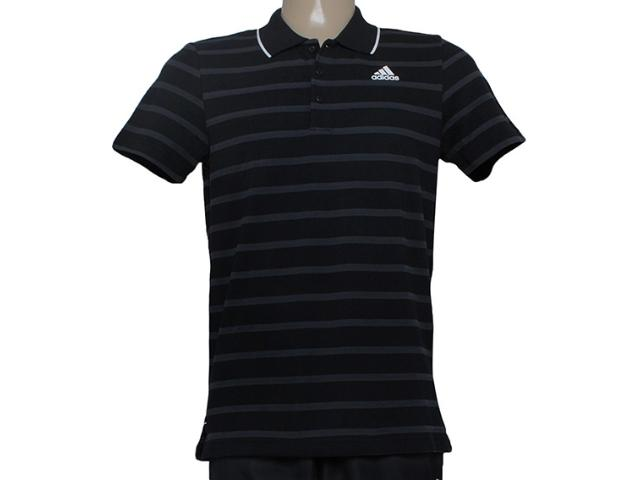 Camisa Masculina Adidas S21680  Ess 3s yd Preto/cinza