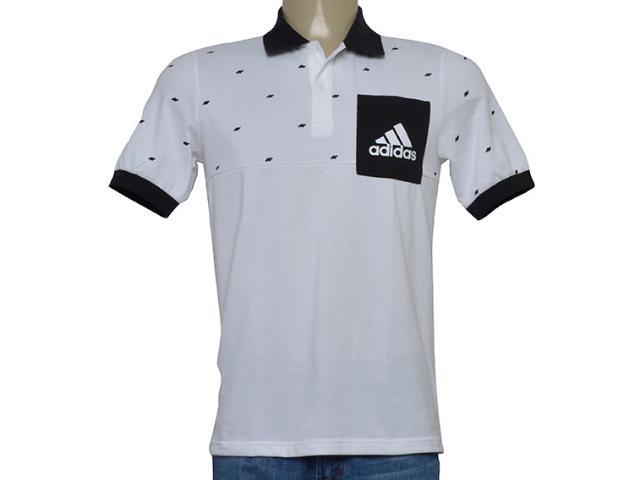 Camisa Masculina Adidas Bq9592 Ess Pocket po Branco/preto