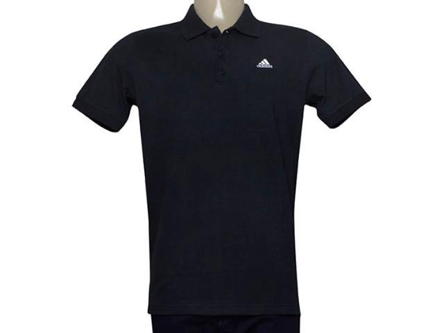 Camisa Masculina Adidas Bq2420 Polo Ess Preto