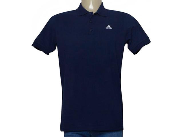 Camisa Masculina Adidas Cf0424 Polo Ess Marinho