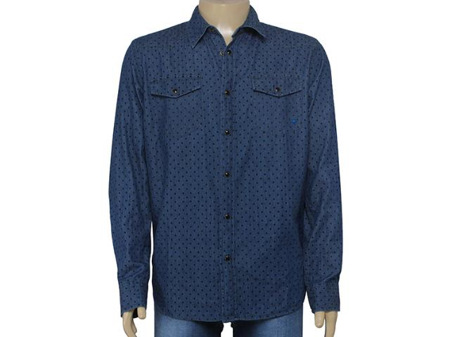 Camisa Masculina Cavalera Clothing 02.01.1238 Cor Jeans