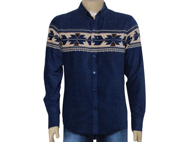 Camisa Masculina Cavalera Clothing 02.01.1279 Marinho