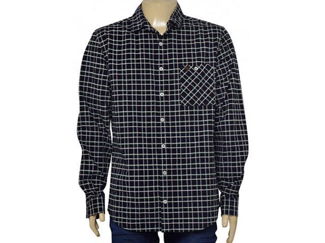 Camisa Masculina Cavalera Clothing 02.01.1412 Marinho/caqui