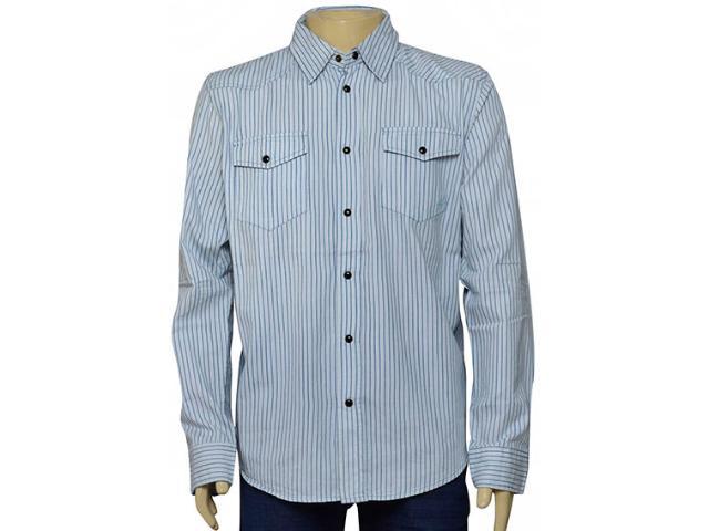 Camisa Masculina Cavalera Clothing 02.01.1237 Azul Listrado
