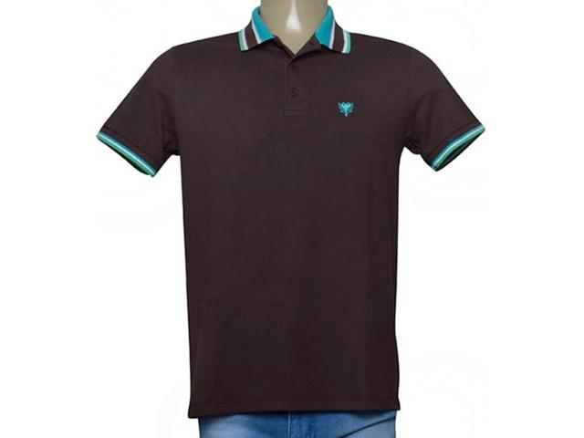 Camisa Masculina Cavalera Clothing 03.01.3824 Chocolate/verde