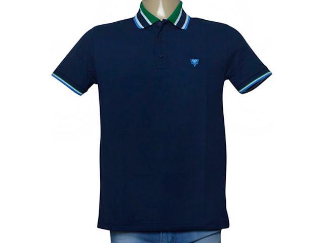 Camisa Masculina Cavalera Clothing 03.01.3824 Azul/verde