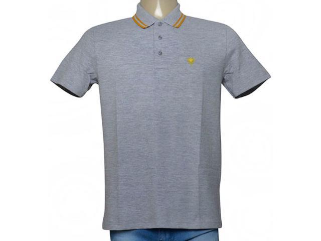 Camisa Masculina Cavalera Clothing 03.01.0642 Mescla/mostarda