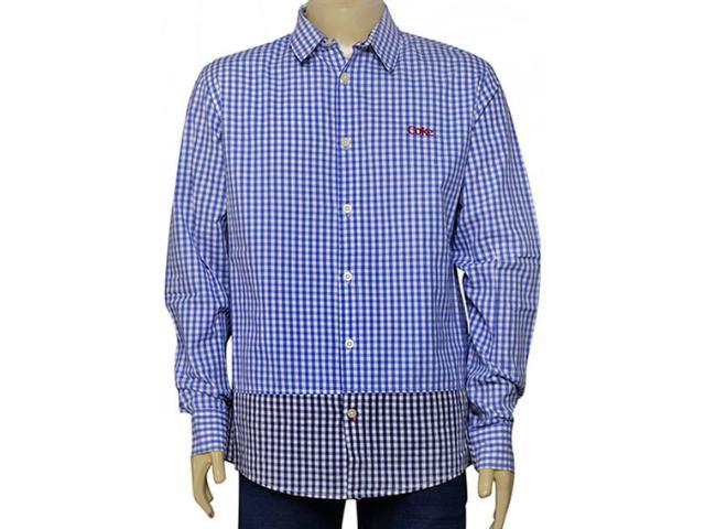 Camisa Masculina Coca-cola Clothing 313200382 Xadrez Azul
