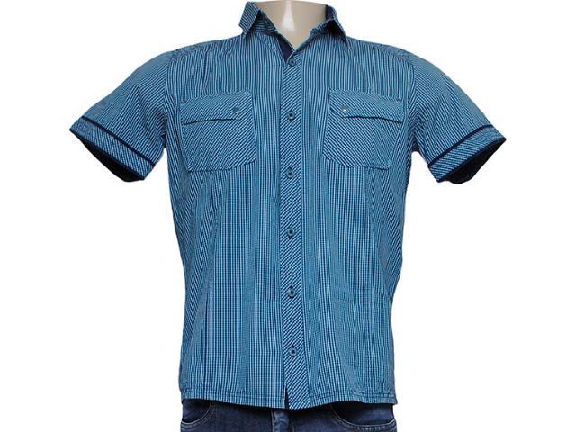 Camisa Masculina dj 01021739 Xadrez Marinho/verde