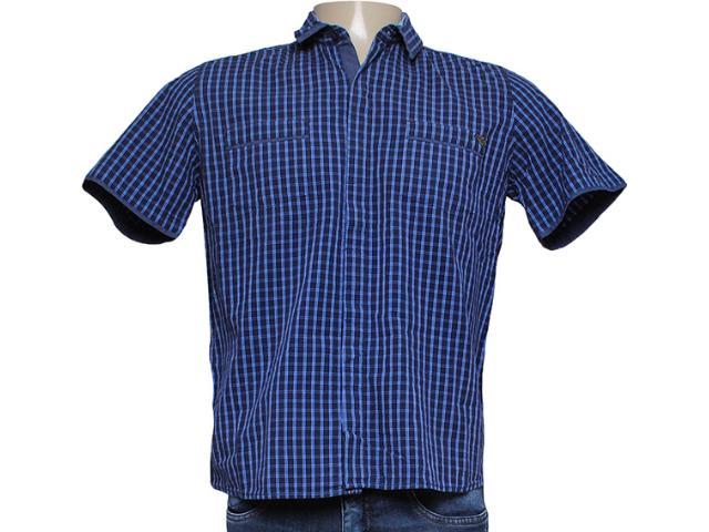 Camisa Masculina dj 01021722 Xadrez Azul
