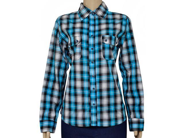 Camisa Feminina Dona Florinda 37143 Azul