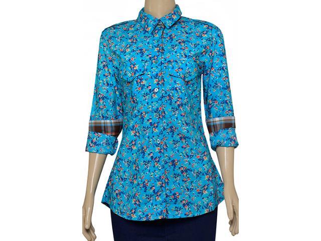 Camisa Feminina Dona Florinda 37342 Azul Claro