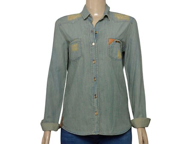 Camisa Feminina Index 07.01.000385 Jeans Esverdeado