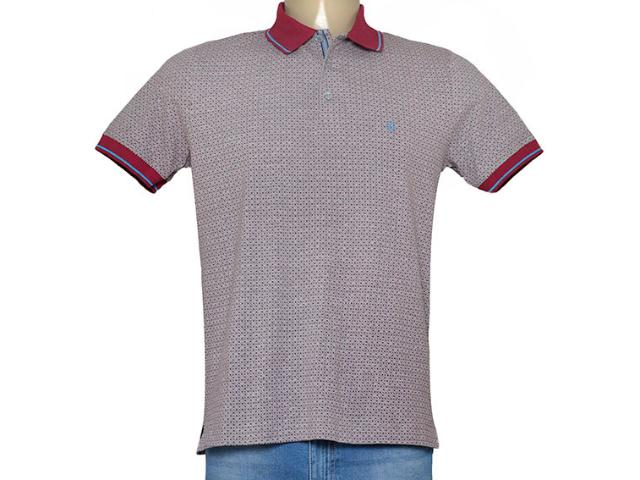 Camisa Masculina Individual 306.22222.217 Cinza/vermelho