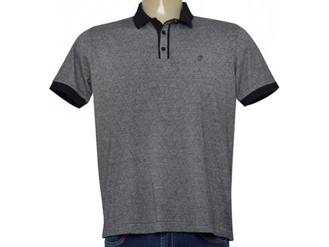 Camisa Masculina Individual 306.22222.228 Cinza/preto