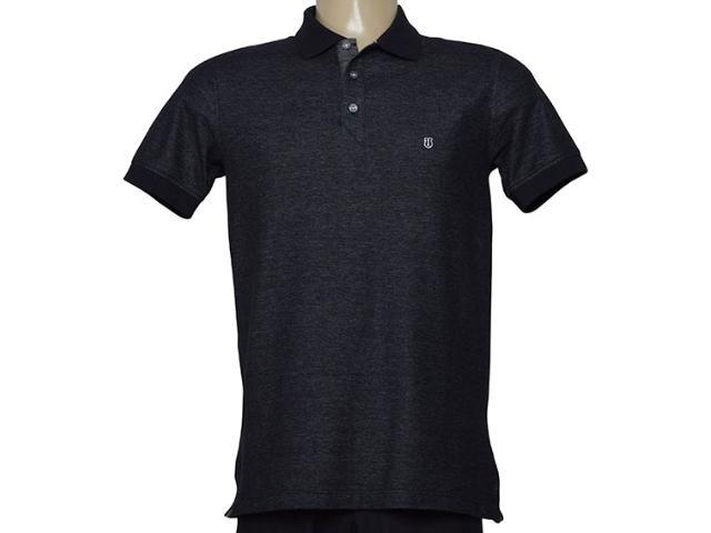 Camisa Masculina Individual 306.22222.376 Preto Mesclado