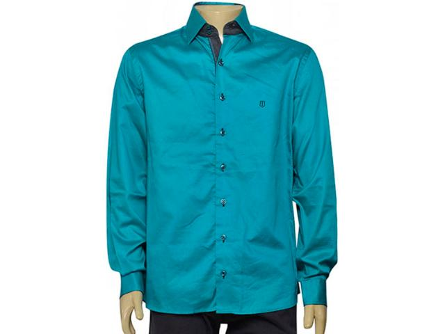 Camisa Masculina Individual 302.00932.004 Verde Agua