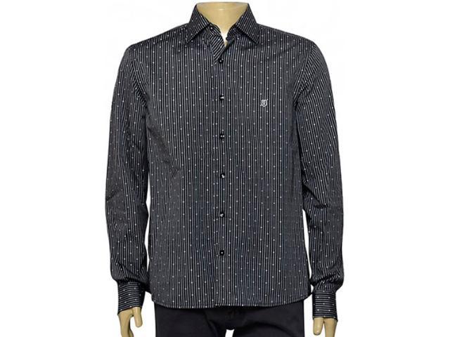 Camisa Masculina Individual 302.11021.001 Listrado Preto/branco