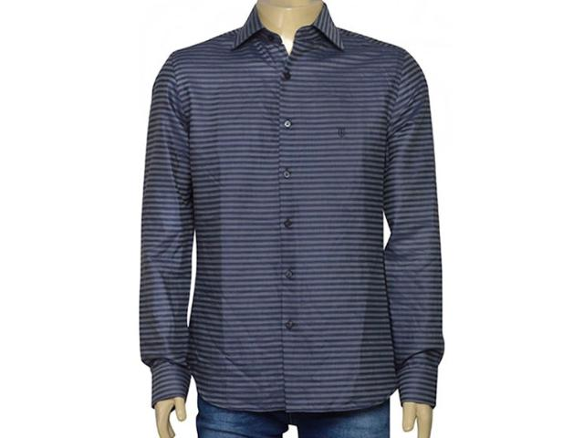 Camisa Masculina Individual 302.27008.001 Grafite/marinho