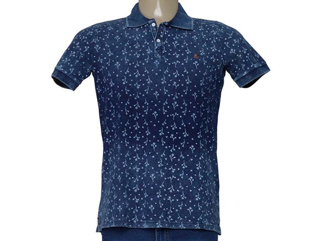 Camisa Masculina King & Joe Po09305 Jeans Estampado