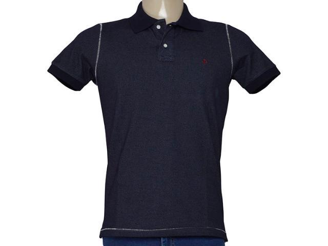 Camisa Masculina King & Joe Po09109 Marinho/branco