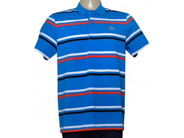 Camisa Masculina Lacoste Yh7681 21 Azul Listrado