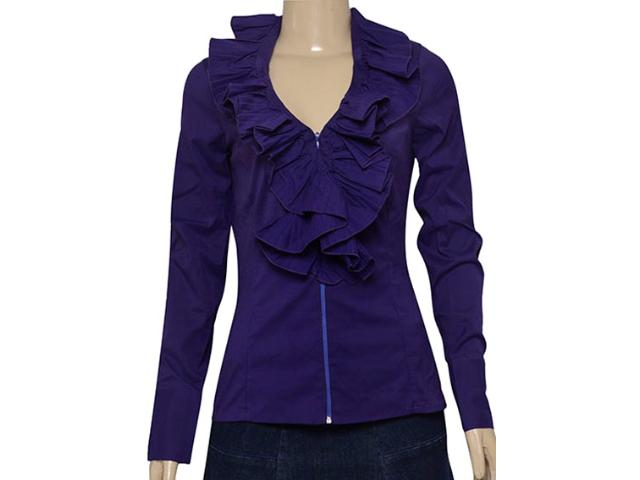 Camisa Feminina Lafort E9i013 Platino