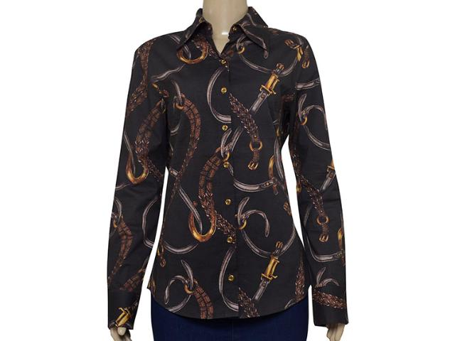 Camisa Feminina Lafort E121433 Marrom