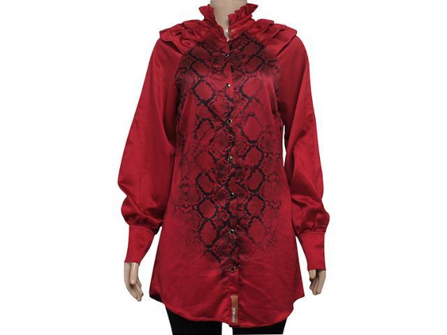 Camisa Feminina Moikana 6125 Vermelho