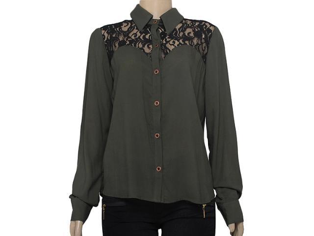 Camisa Feminina Moikana 15181 Militar