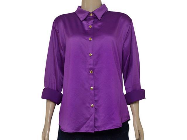 Camisa Feminina Moikana 1511108 Roxo