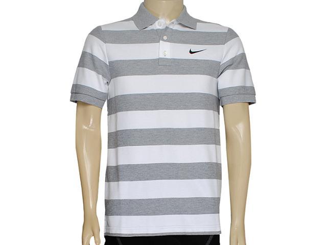 Camisa Masculina Nike 637624-063 Matchup Polo-yd Stripe 2 Mescla/branco
