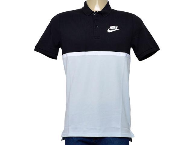 Camisa Masculina Nike 886507-011 Polo m Nsw Polo Matchup pq Preto/cinza