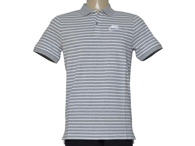 Camisa Masculina Nike 832873-063 m Nsw pq Strp mn Cinza Listrado