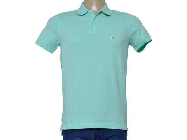 Camisa Masculina Tommy Th0857894237 Verde Claro