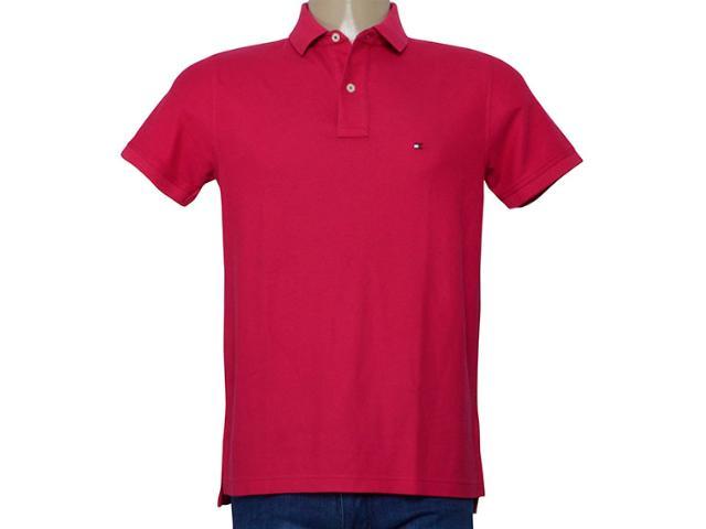 Camisa Masculina Tommy Th0857889250 Rosa