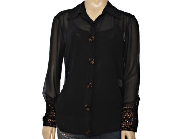 Camisa Feminina Lafort E13i062 Preto