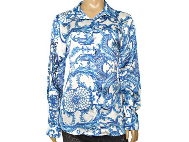 Camisa Feminina Lafort E14v366 Azul Estampado