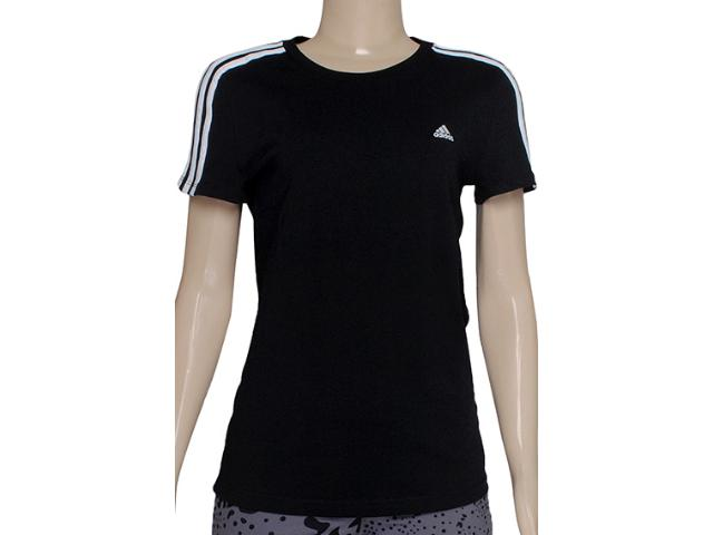 Camiseta Feminina Adidas X21790 Ess 3s Wom Preto