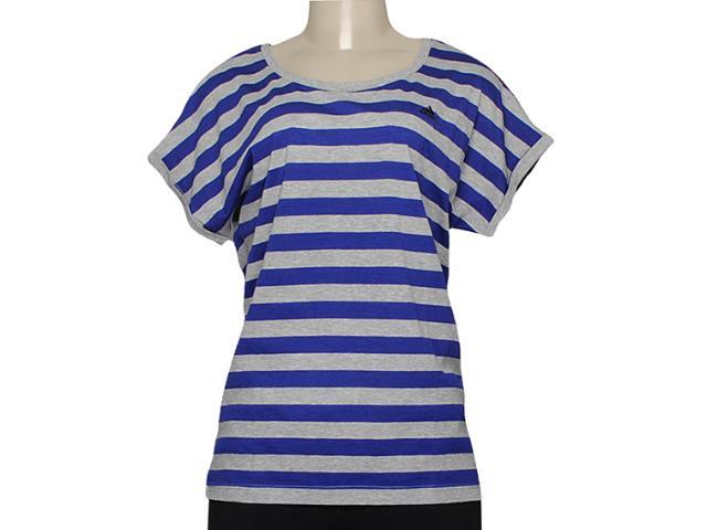 Camiseta Feminina Adidas M66537 Seasonal Cinza/azul