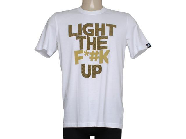 Camiseta Masculina Adidas M31028 Light up Branco