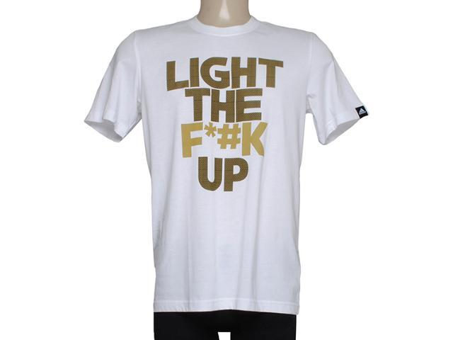 Camiseta Masculina Adidas M31028 Light up Branco