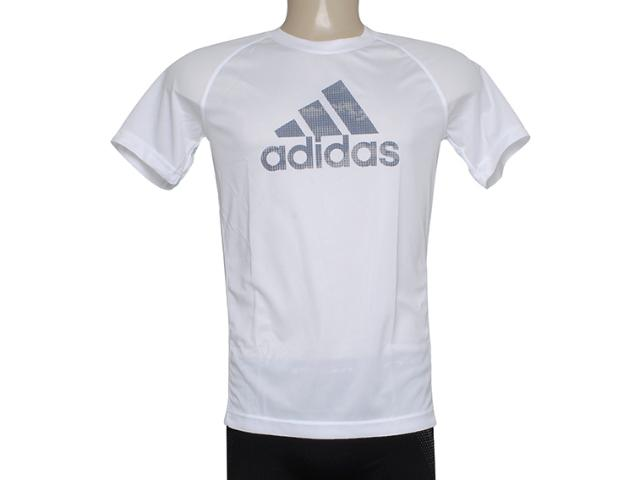 Camiseta Masculina Adidas F48619 Clima Ess Log Branco