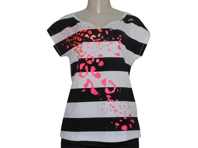 Camiseta Feminina Adidas M64093 ct Graphic Teed  Branco/preto