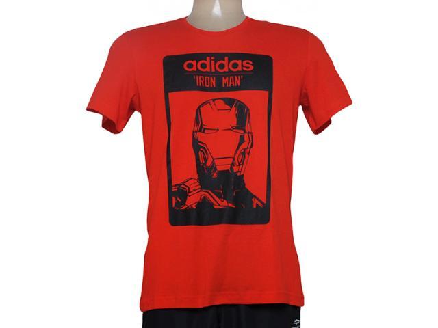 Camiseta Feminina Adidas Aa4242 Iron Man Vermelho