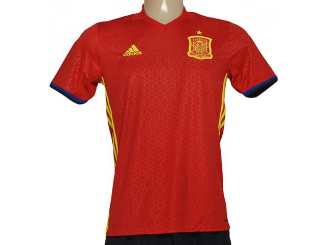 Camiseta Masculina Adidas Ai4411 Fef h Jsy Espanha i Vermelho