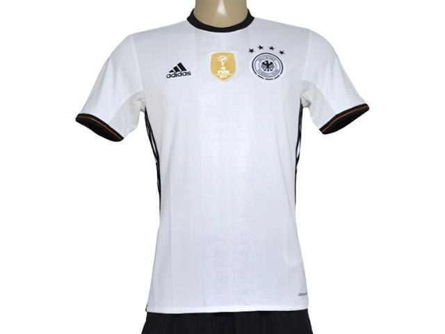 Camiseta Masculina Adidas Ai5014 Alemanha i Branco/preto