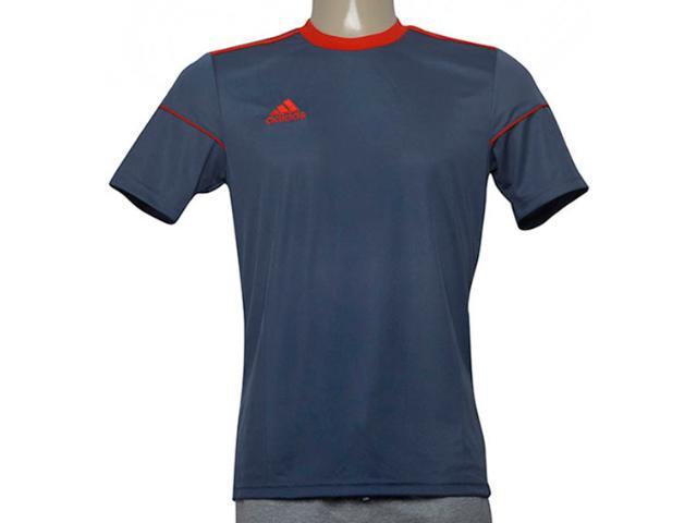 Camiseta Masculina Adidas Bj9182 Squad 17 Jsy Onix/vermelho