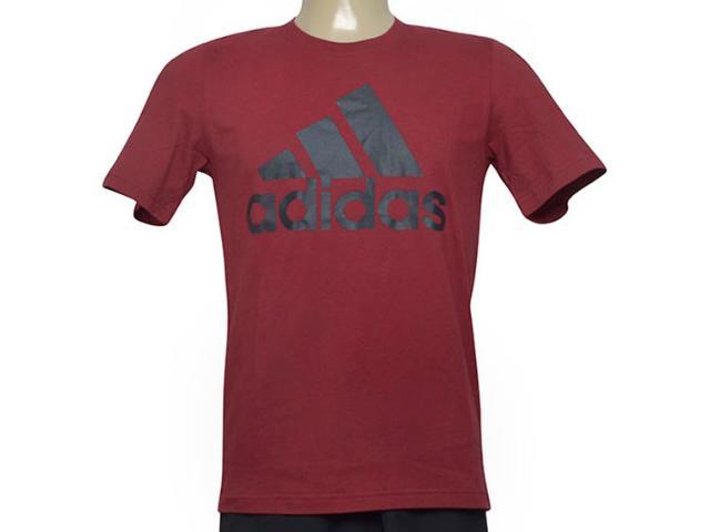 Camiseta Masculina Adidas Cz7512 Ess Linea Vinho