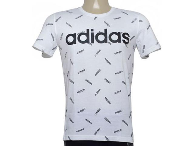 Camiseta Masculina Adidas Dw7866 Aop Tee Branco/preto
